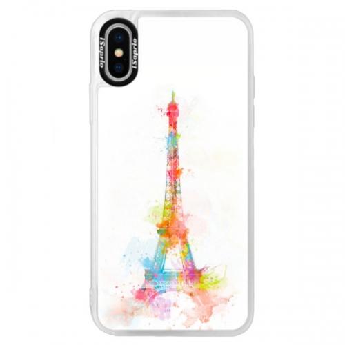 Neonové pouzdro Blue iSaprio - Eiffel Tower - iPhone XS