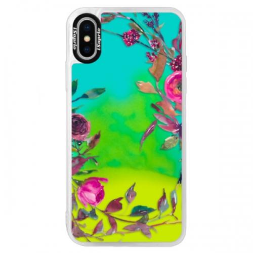 Neonové pouzdro Blue iSaprio - Herbs 01 - iPhone XS