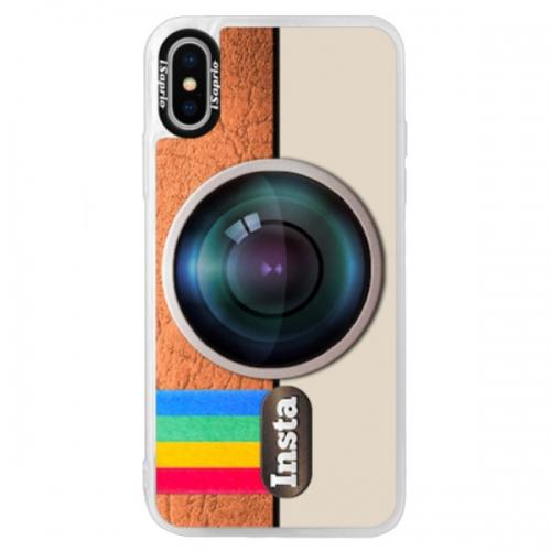 Neonové pouzdro Blue iSaprio - Insta - iPhone XS