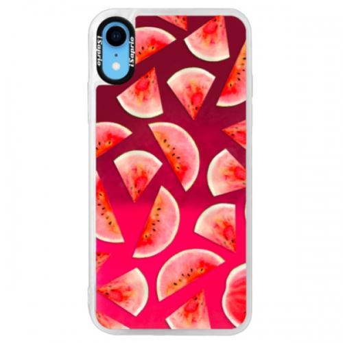 Neonové pouzdro Pink iSaprio - Melon Pattern 02 - iPhone XR