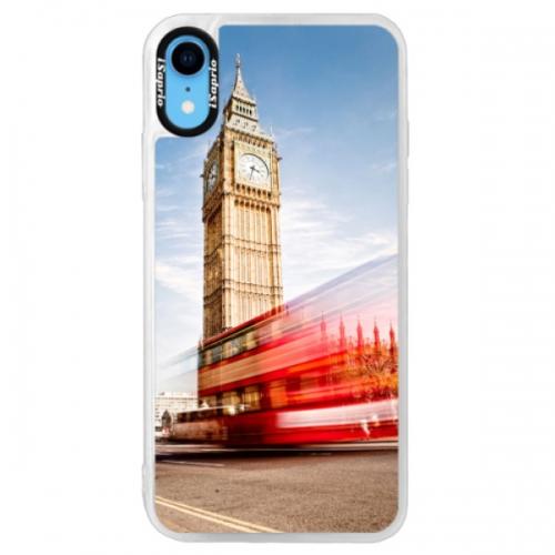 Neonové pouzdro Pink iSaprio - London 01 - iPhone XR