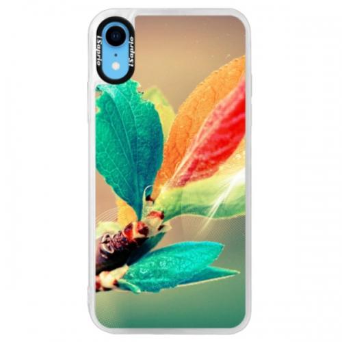 Neonové pouzdro Pink iSaprio - Autumn 02 - iPhone XR