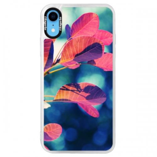 Neonové pouzdro Pink iSaprio - Autumn 01 - iPhone XR