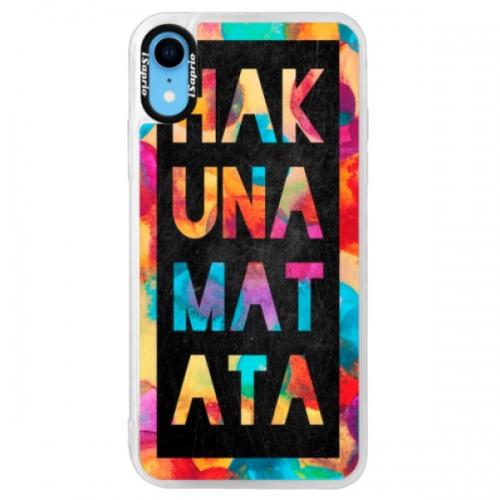 Neonové pouzdro Pink iSaprio - Hakuna Matata 01 - iPhone XR