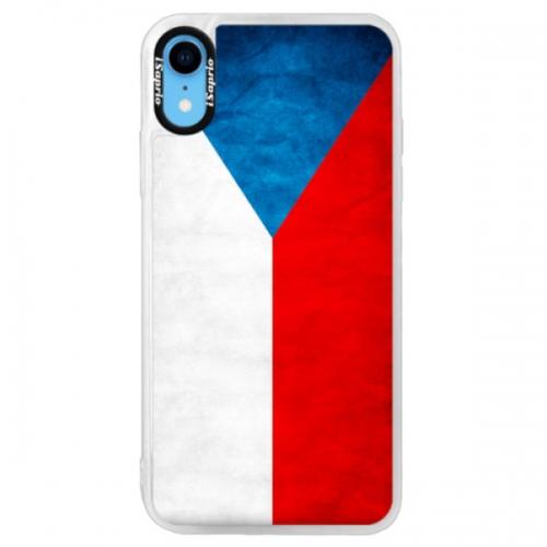 Neonové pouzdro Pink iSaprio - Czech Flag - iPhone XR