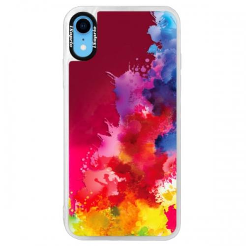 Neonové pouzdro Pink iSaprio - Color Splash 01 - iPhone XR
