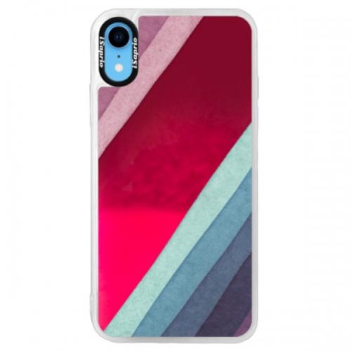Neonové pouzdro Pink iSaprio - Glitter Stripes 01 - iPhone XR