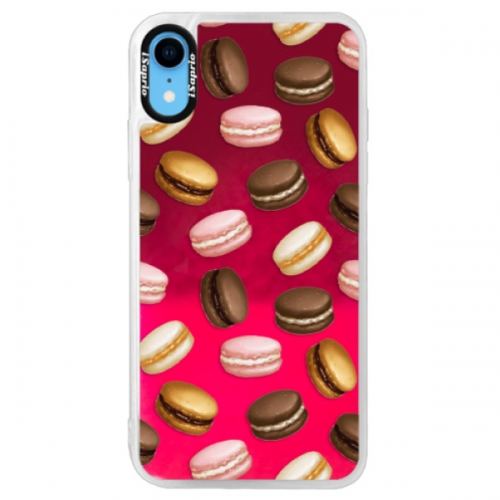 Neonové pouzdro Pink iSaprio - Macaron Pattern - iPhone XR