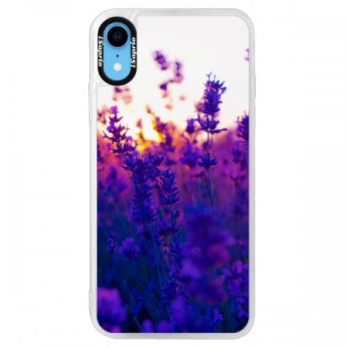 Neonové pouzdro Pink iSaprio - Lavender Field - iPhone XR