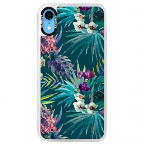 Neonové pouzdro Pink iSaprio - Tropical Blue 01 - iPhone XR