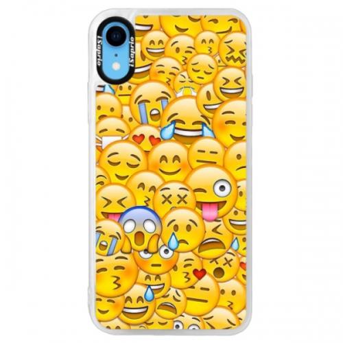 Neonové pouzdro Pink iSaprio - Emoji - iPhone XR