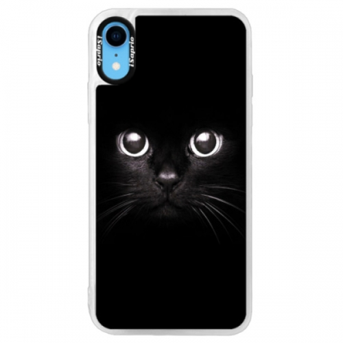 Neonové pouzdro Pink iSaprio - Black Cat - iPhone XR