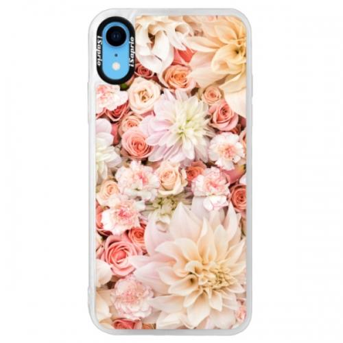Neonové pouzdro Pink iSaprio - Flower Pattern 06 - iPhone XR