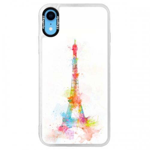 Neonové pouzdro Pink iSaprio - Eiffel Tower - iPhone XR