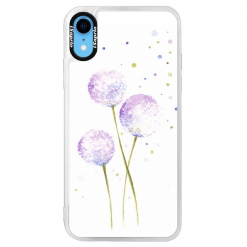 Neonové pouzdro Pink iSaprio - Dandelion - iPhone XR