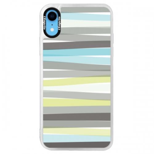 Neonové pouzdro Pink iSaprio - Stripes - iPhone XR