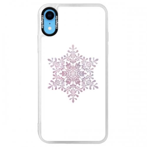 Neonové pouzdro Pink iSaprio - Snow Flake - iPhone XR