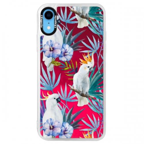 Neonové pouzdro Pink iSaprio - Parrot Pattern 01 - iPhone XR