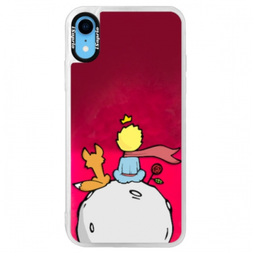 Neonové pouzdro Pink iSaprio - Prince - iPhone XR