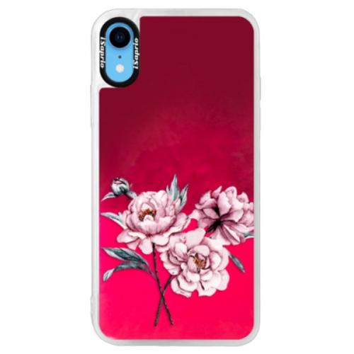 Neonové pouzdro Pink iSaprio - Poeny - iPhone XR