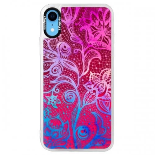 Neonové pouzdro Pink iSaprio - Color Lace - iPhone XR