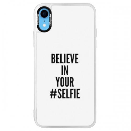 Neonové pouzdro Pink iSaprio - Selfie - iPhone XR
