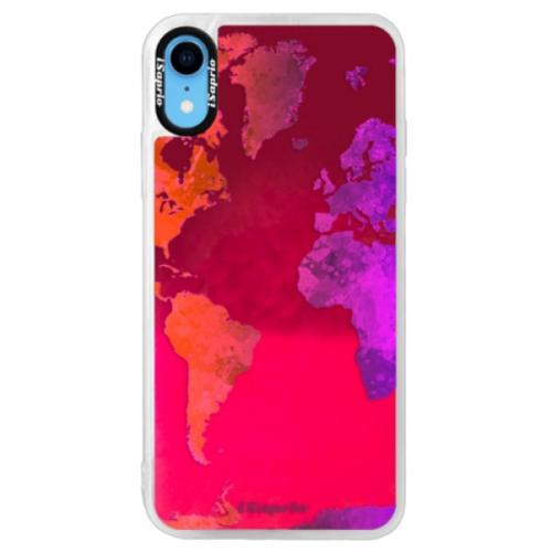 Neonové pouzdro Pink iSaprio - Warm Map - iPhone XR