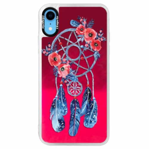 Neonové pouzdro Pink iSaprio - Dreamcatcher 02 - iPhone XR