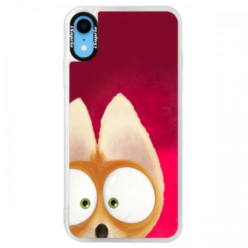 Neonové pouzdro Pink iSaprio - Fox 02 - iPhone XR