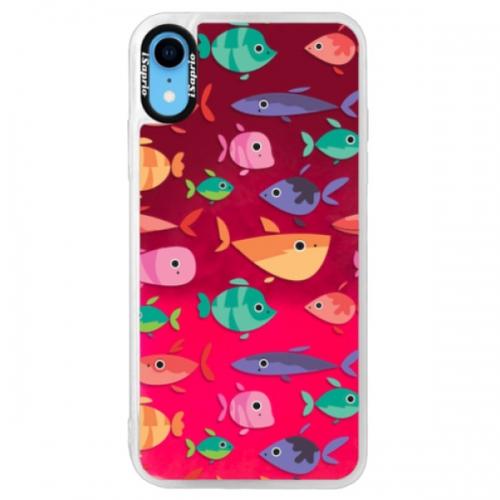 Neonové pouzdro Pink iSaprio - Fish pattern 01 - iPhone XR