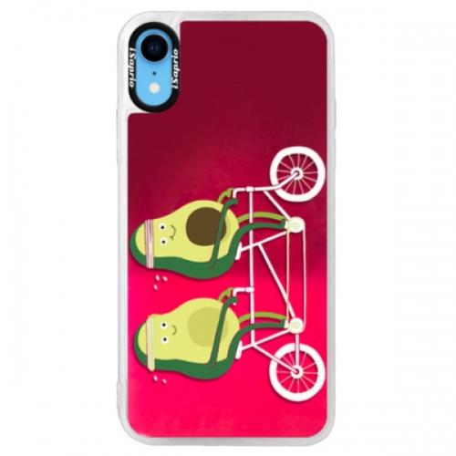 Neonové pouzdro Pink iSaprio - Avocado - iPhone XR