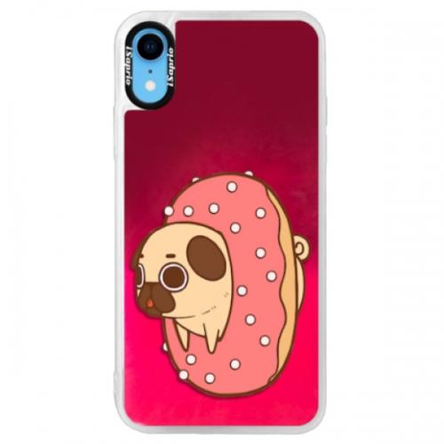 Neonové pouzdro Pink iSaprio - Dog 04 - iPhone XR