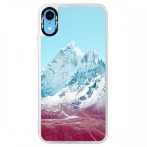 Neonové pouzdro Blue iSaprio - Highest Mountains 01 - iPhone XR