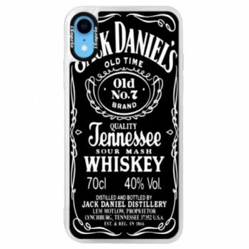 Neonové pouzdro Blue iSaprio - Jack Daniels - iPhone XR