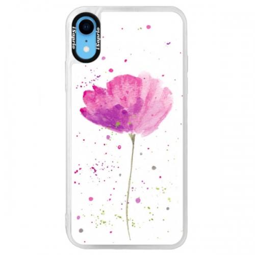 Neonové pouzdro Blue iSaprio - Poppies - iPhone XR