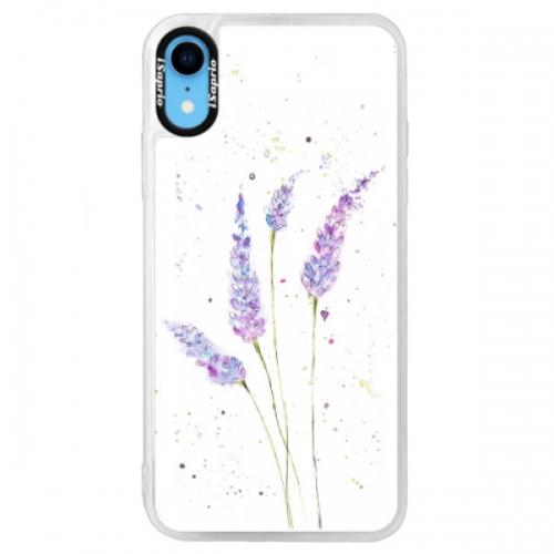 Neonové pouzdro Blue iSaprio - Lavender - iPhone XR