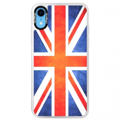Neonové pouzdro Blue iSaprio - UK Flag - iPhone XR