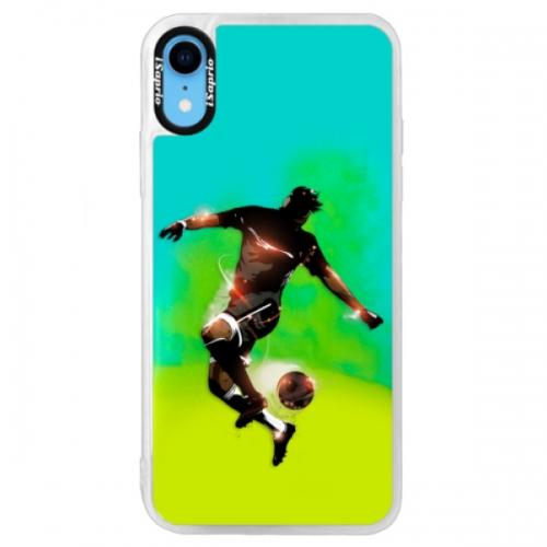 Neonové pouzdro Blue iSaprio - Fotball 01 - iPhone XR