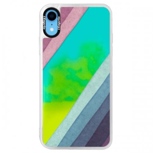 Neonové pouzdro Blue iSaprio - Glitter Stripes 01 - iPhone XR
