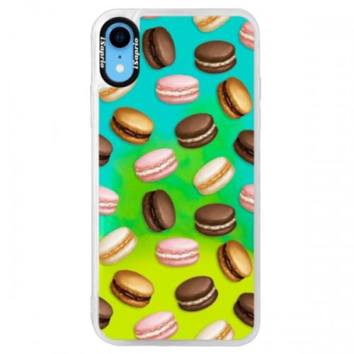 Neonové pouzdro Blue iSaprio - Macaron Pattern - iPhone XR