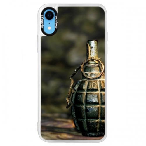 Neonové pouzdro Blue iSaprio - Grenade - iPhone XR
