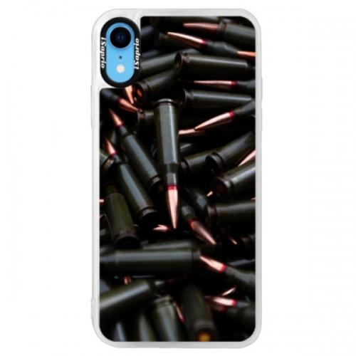 Neonové pouzdro Blue iSaprio - Black Bullet - iPhone XR