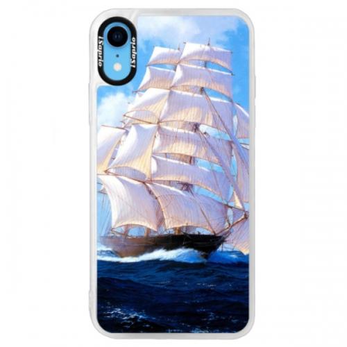 Neonové pouzdro Blue iSaprio - Sailing Boat - iPhone XR