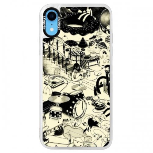 Neonové pouzdro Blue iSaprio - Underground - iPhone XR