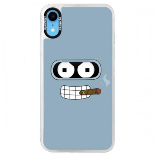 Neonové pouzdro Blue iSaprio - Bender - iPhone XR
