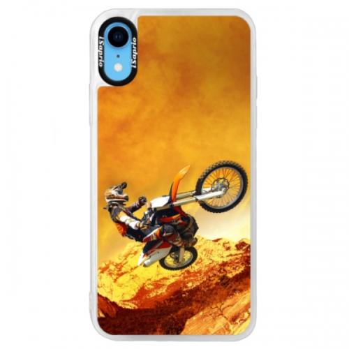 Neonové pouzdro Blue iSaprio - Motocross - iPhone XR