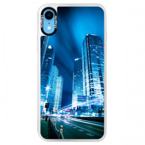 Neonové pouzdro Blue iSaprio - Night City Blue - iPhone XR