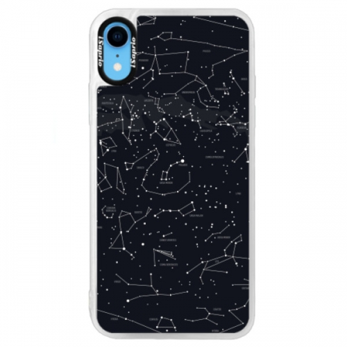 Neonové pouzdro Blue iSaprio - Night Sky 01 - iPhone XR