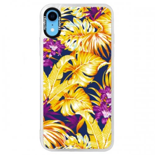 Neonové pouzdro Blue iSaprio - Tropical Orange 04 - iPhone XR