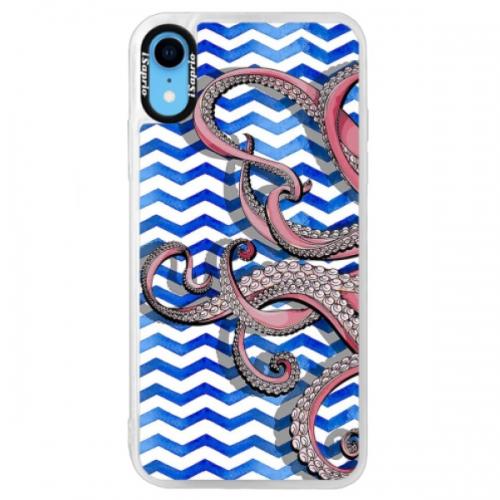 Neonové pouzdro Blue iSaprio - Octopus - iPhone XR
